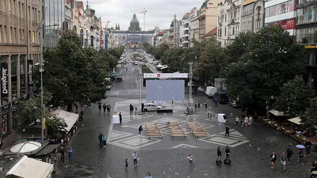 Václavské náměstí.