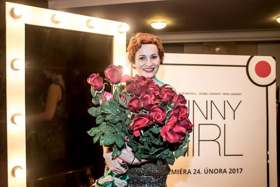 Ukázka kostýmů k chystanému představení Funny Girl v pražském Divadle Dva. Na snímku Monika Absolonová.