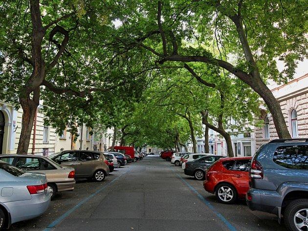 Lužická ulice.