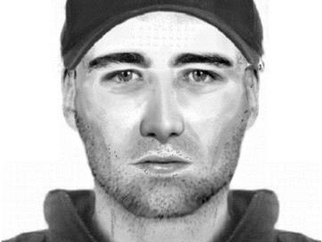 Identikit podezřelého muže.