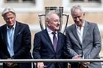 Bjorn Borg, Rod Laver a John McEnroe