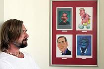 Výstava Svět kreslí Václava Havla.