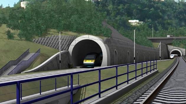 Vizualizace tunelu z Prahy do Berouna z roku 2007.