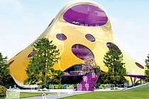 NYNÍ. Nová vizualizce jasně signalizuje: Národní knihovna bude zlatá. Podle autora návrhu Jana Kaplického je to barva, která patří k české architektonické tradici.