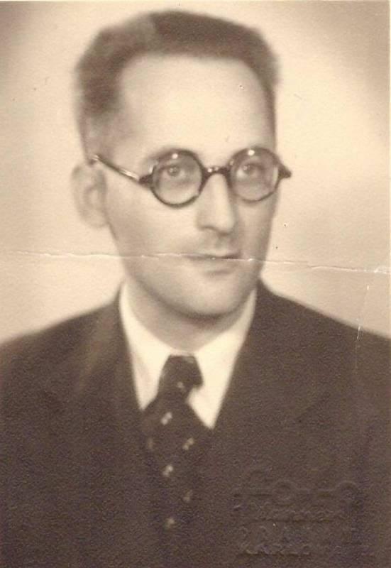 Otec Kurt Baran, portrét z roku 1938.