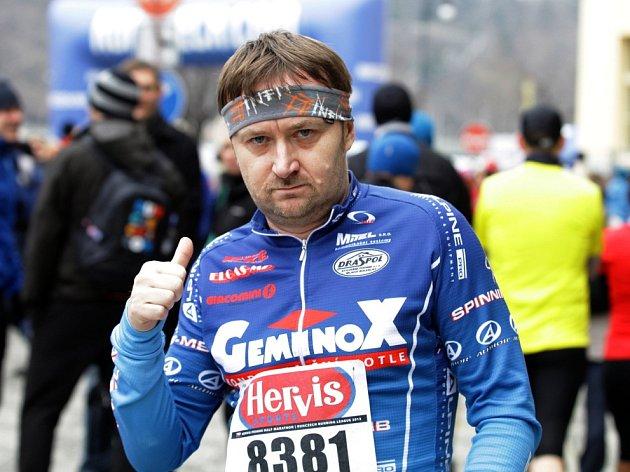 Jiří Macek běží půlmaraton