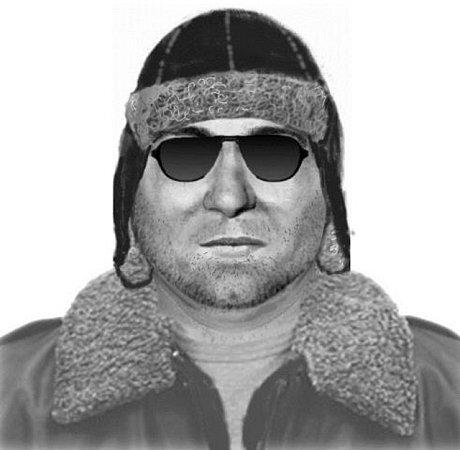 Identikit hledaného podezřelého muže.