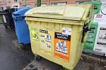 Popelnice na tříděný odpad. Ilustrační foto.