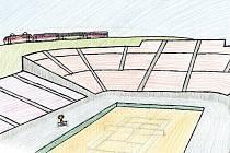 Jak mašinka pomohla k poháru. Jedna z ilustrací Janise Mahbouliho v knize Pohádky z nádraží.