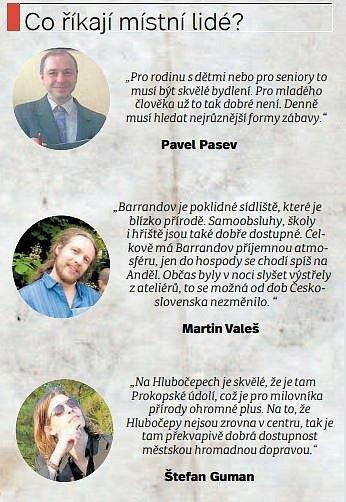 Místní lidé - Hlubočepy.