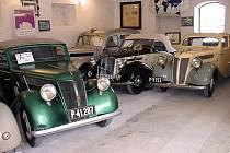 Automobily zn. Praga v Automuzeu Emila Příhody. Ilustrační foto.
