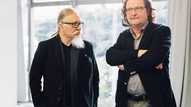 Architekt Roman Koucký a Petr Hlaváček