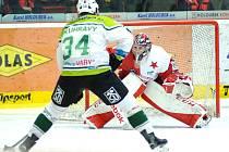 Hokejisté Karlových Varů prohráli v závěrečném 12. kole baráže o extraligu s pražskou Slavií 5:6