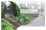 Botanická zahrada - expozice pnoucích rostlin.