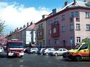 Požár v Kounické ulici.