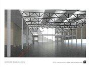 Vizualizace interiéru tréninkového centra.