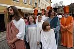 Fragment Pašijových her. Ukřižování Ježíše Krista.