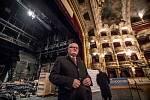 Rekonstrukce Státní opery vPraze. Na snímku ministr kultury Daniel Herman.