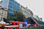 Požár hotelu na Václavském náměstí.