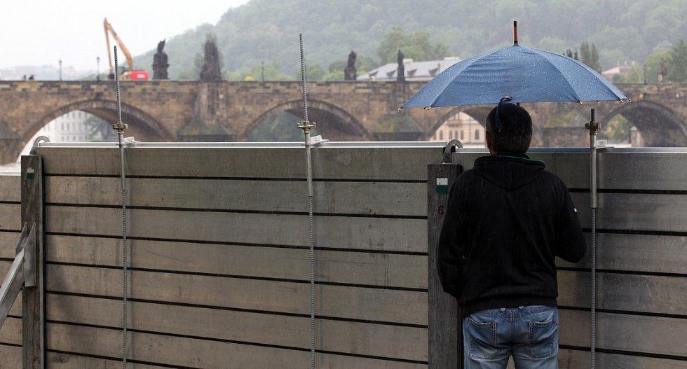 Povodně v Praze v pondělí 3.června.