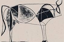 Motiv býka od Pabla Picassa.