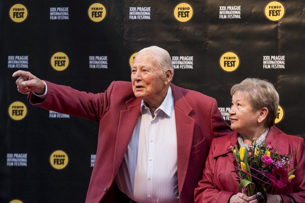 Ze zahájení 22. ročníku Mezinárodního filmového festivalu Praha - Febiofest. Na snímku herec Karel Fiala.