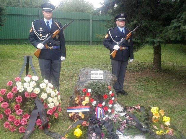Policisté vzpomínali na zastřeleného policistu ve službě Michala Braniše.
