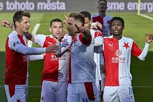 Slavia sahá po double. V semifinále MOL Cupu vyhrála na Spartě 3:0.