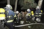 Požár prázdného domu v Praze 6.