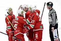 Hokejisté Slavie porazili na domácím ledě v pondělní dohrávce Havířov 4:2.
