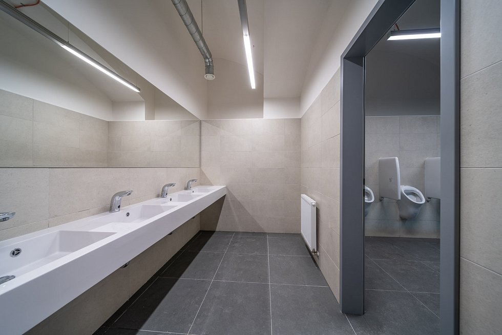 Nové toalety na Masarykově nádraží v Praze.