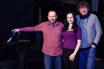 Porotci soutěže Pianista roku 2016: (zleva) Rostislav Čapek, Jitka Fowler Fraňková, Petr Malásek.