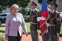 Angela Merkelová v Praze.
