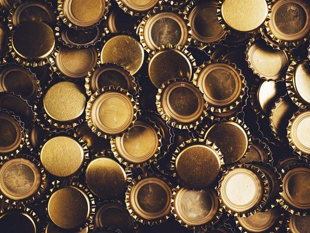 Pivní zátky. Ilustrační foto.