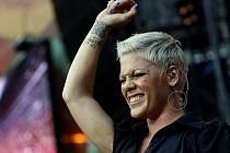 Americká zpěvačka Pink vystoupila 20. července v pražské Synot tip Areně v Edenu.
