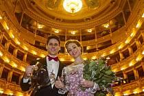 Předávání cen Herecké asociace Thálie 2013 proběhlo 29. března v pražském Národním divadle. Ondřej Vinklát a Marta Drastíková.
