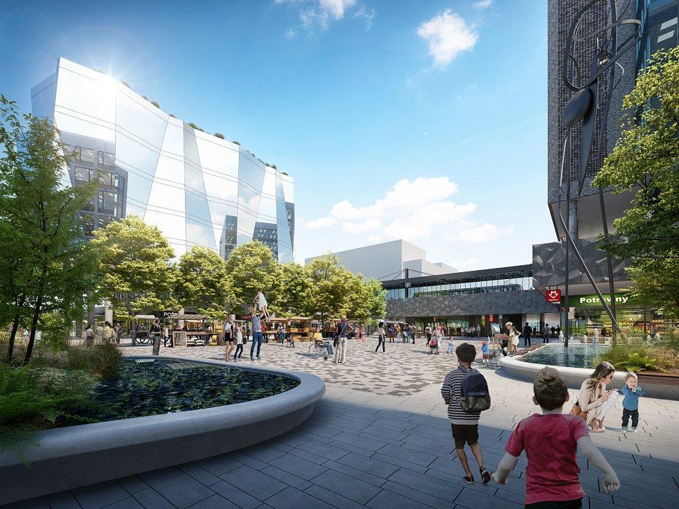 Okolí stanice metra Opatov se zkrášlí, Jižní Město bude mít své náměstí.