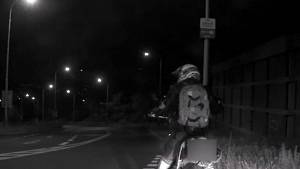 Nehoda motorkáře v Praze 4