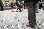 Akce Svíčka pro Václava Havla na Jungmannově náměstí.