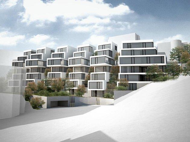 Vizualizace projektu Rezidence Erbenova v Praze 5.