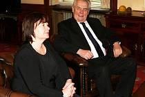 Návštěva Středočeského kraje začala setkáním v hejtmanově kanceláři.
