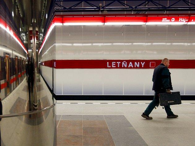 Stanice metra C Letňany. Ilustrační foto.