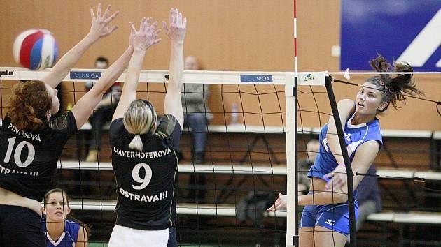 Andrea Kossányiová držela v sobotu útok Olympu