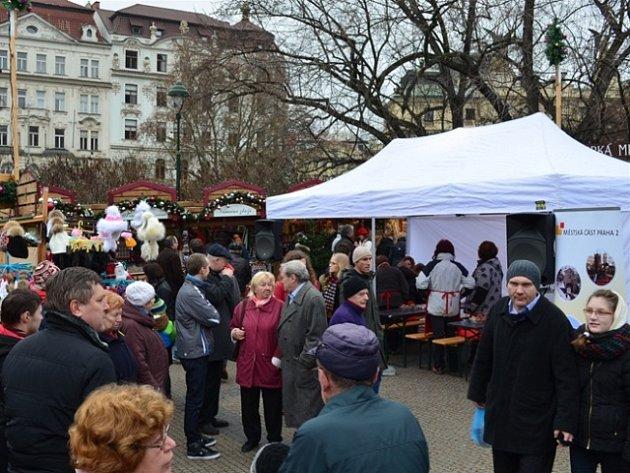 Adventní zastavení u Ludmily na náměstí Míru v Praze 2.