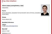 Vizitka zastupitelky Eriky Uchytilové na radničním webu.