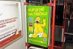 Reklama v metru. Ilustrační foto.