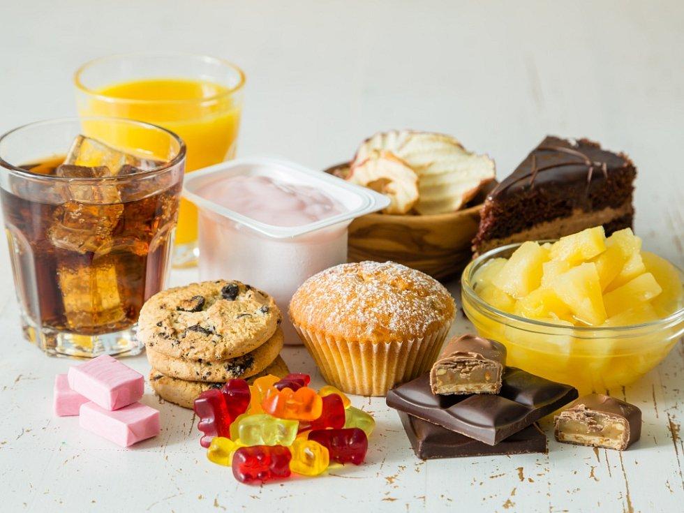 Cukr v potravinách. Ilustrační foto.