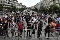 Protivládní demonstrace svolaná hnutím Otevřeme Česko-Chcípl PES se konala 6. června 2021 na Václavském náměstí v Praze.