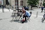 Projekt Pražské židle a stolky na Mariánském náměstí před pražským magistrátem