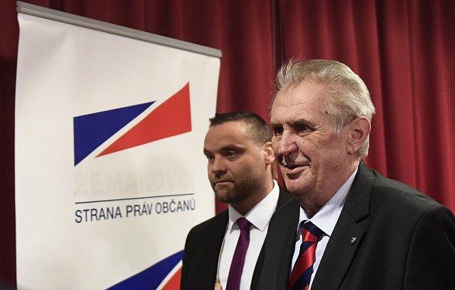 Miloš Zeman vystoupil na sjezdu SPO.